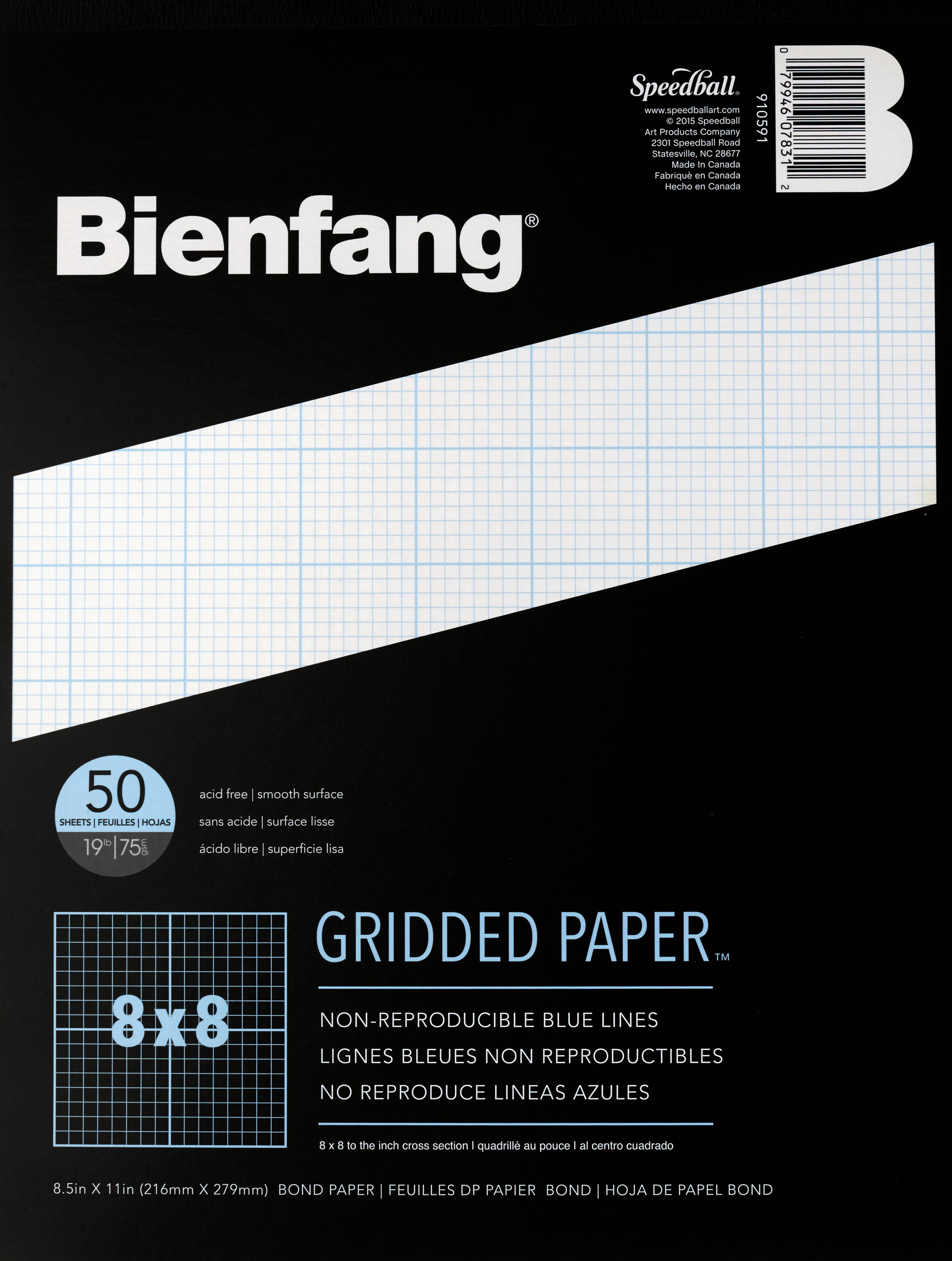 Bienfang Grid Paper Pad 8x8 Grid 8